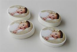Bedrukte zeepjes als origneel geboortebedankje
